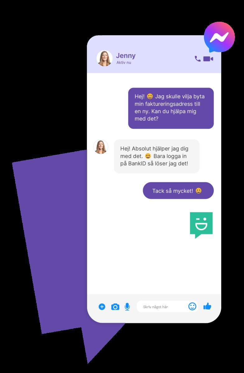 Chatta i Messenger med ImBox Chatt