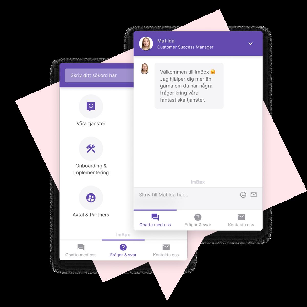 Chattfunktion för kundservice kombinerat med FAQ