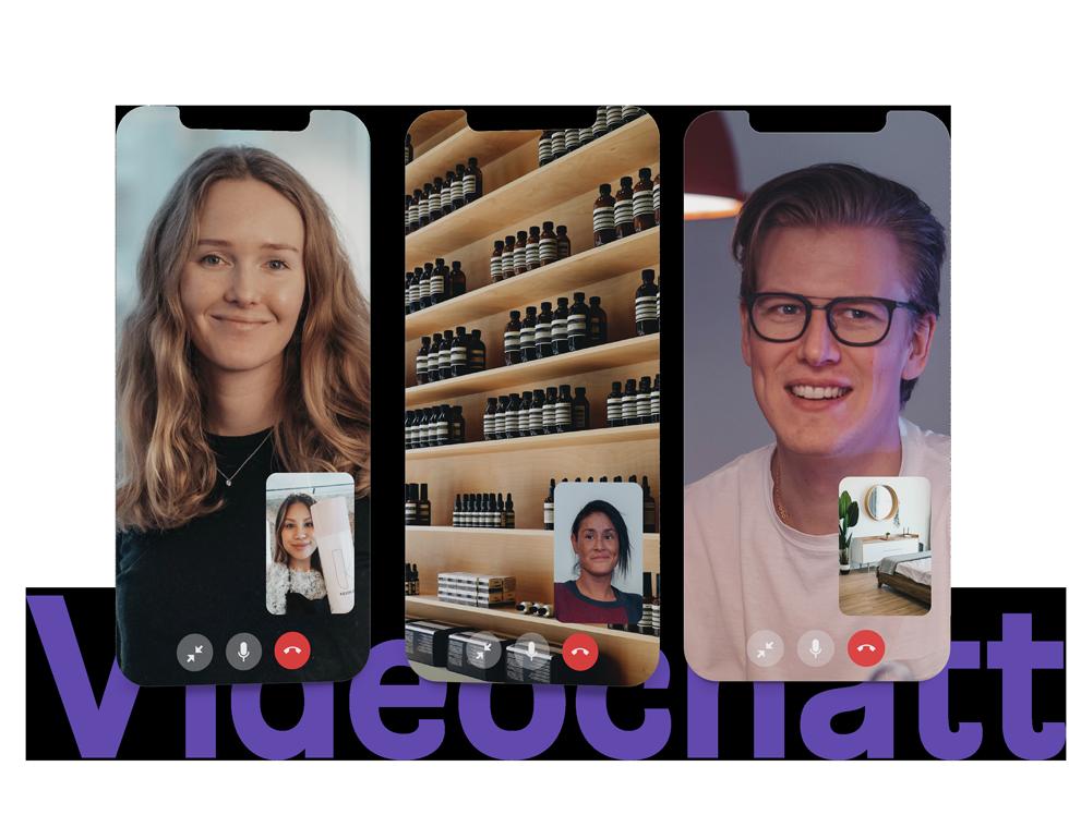 chatta live med besökare i videosamtal