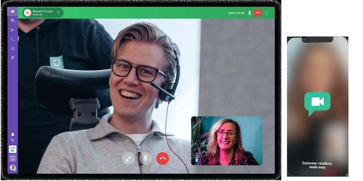 live chat och videochatt med besökare
